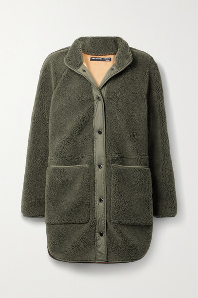 Veronica Beard - Sullie Shell-trimmed Faux Shearling Jacket - Green