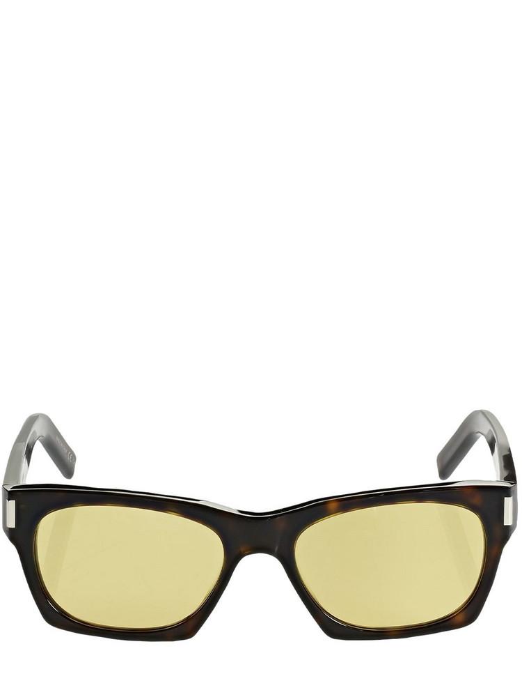 SAINT LAURENT Sl 402 Squared Acetate Sunglasses in yellow
