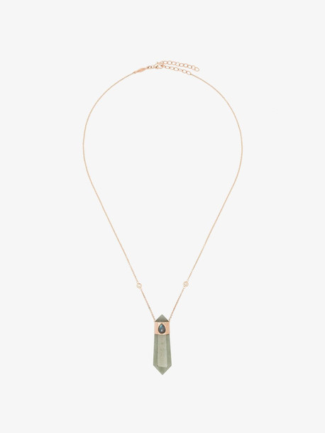 Jacquie Aiche 14K rose gold crystal necklace