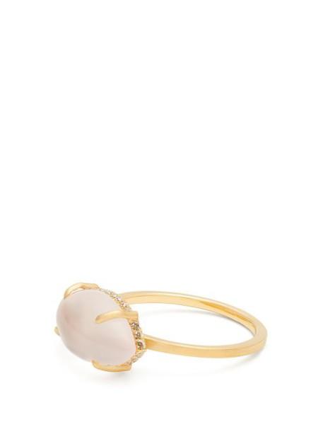 Susan Foster - Diamond, Rose Quartz & Yellow Gold Ring - Womens - Gold