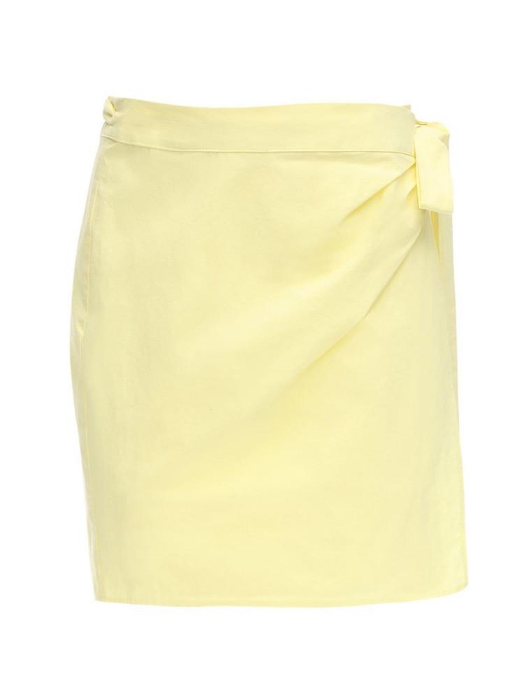 CIAO LUCIA Ponza Cotton Poplin Mini Skirt in yellow
