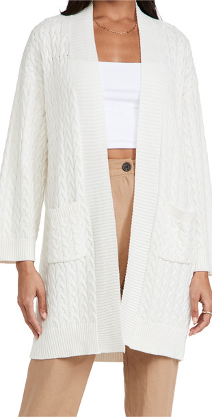 Sablyn Braided Cardigan in white