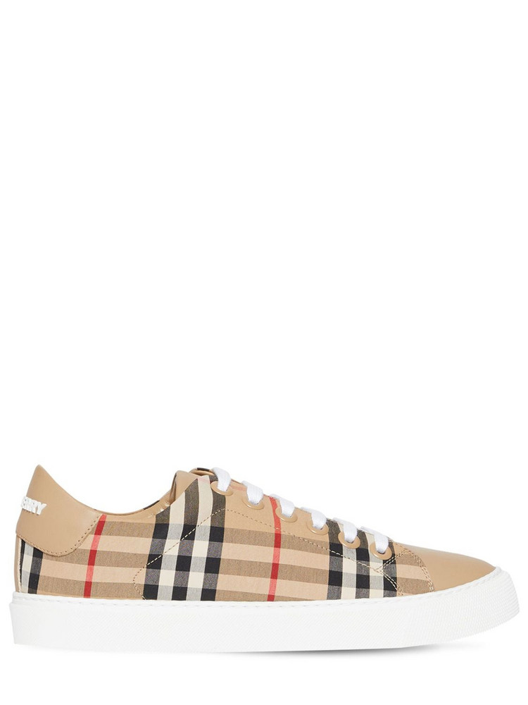 BURBERRY 20mm Albridge Cotton Canvas Sneakers in beige