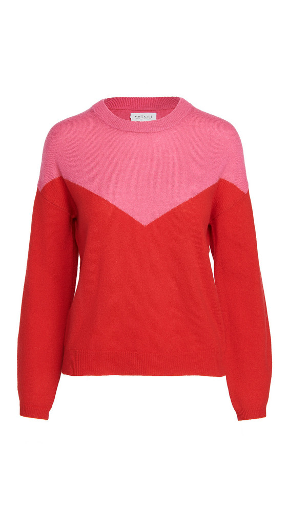 Velvet Mika04 Cashmere Sweater in red