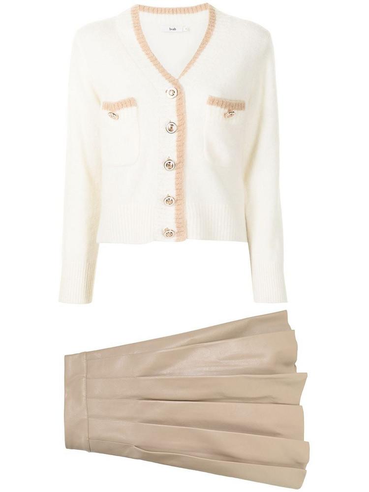 b+ab b+ab contrast-trim knit cardigan - White