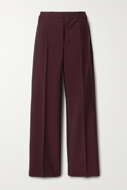 Acne Studios - Wool And Mohair-blend Straight-leg Pants - Burgundy