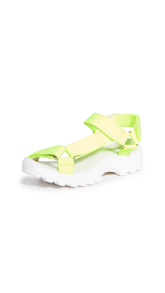 Jeffrey Campbell Patio Strappy Sandals in white / yellow