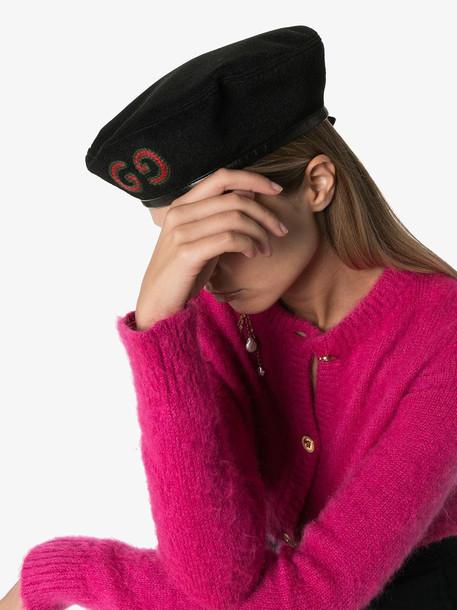 Gucci GG logo beret in black