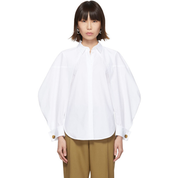 Enfold White Two-Way Shirt