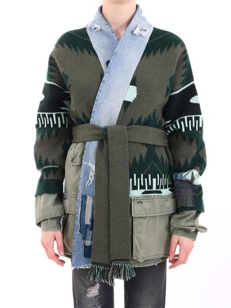 Alanui Patchwork Denim Jacket