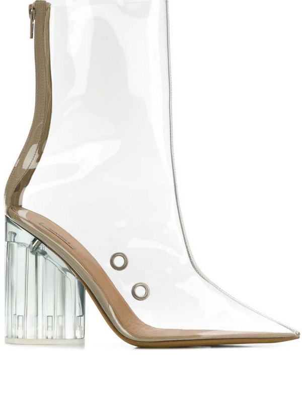 Yeezy pvc boots in white