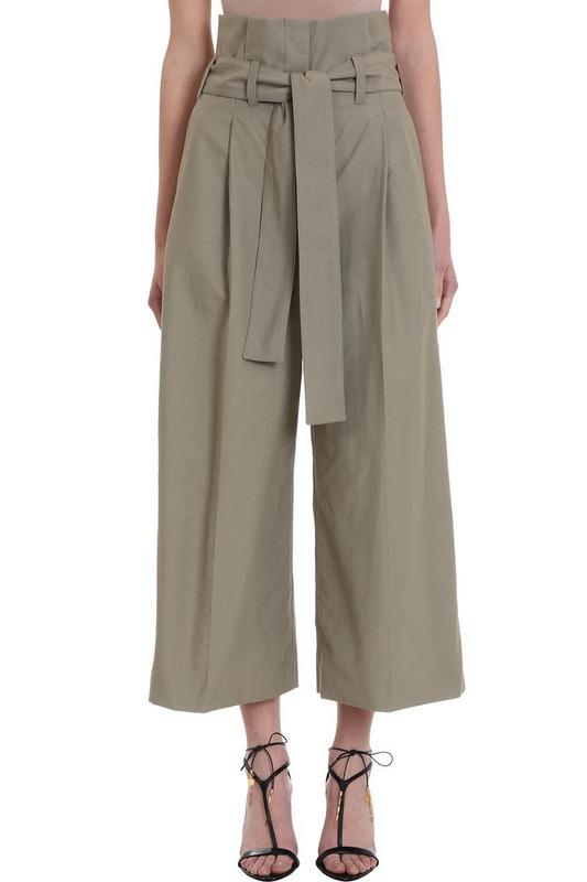 Stella McCartney Wide Leg Cropped Trousers in green