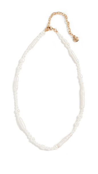 BaubleBar Bolsena Choker Necklace in gold / ivory