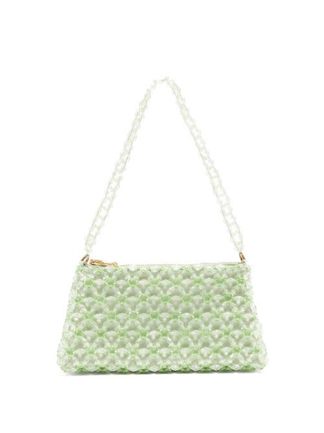 Shrimps - Dawson Floral-beaded Bag - Womens - Green