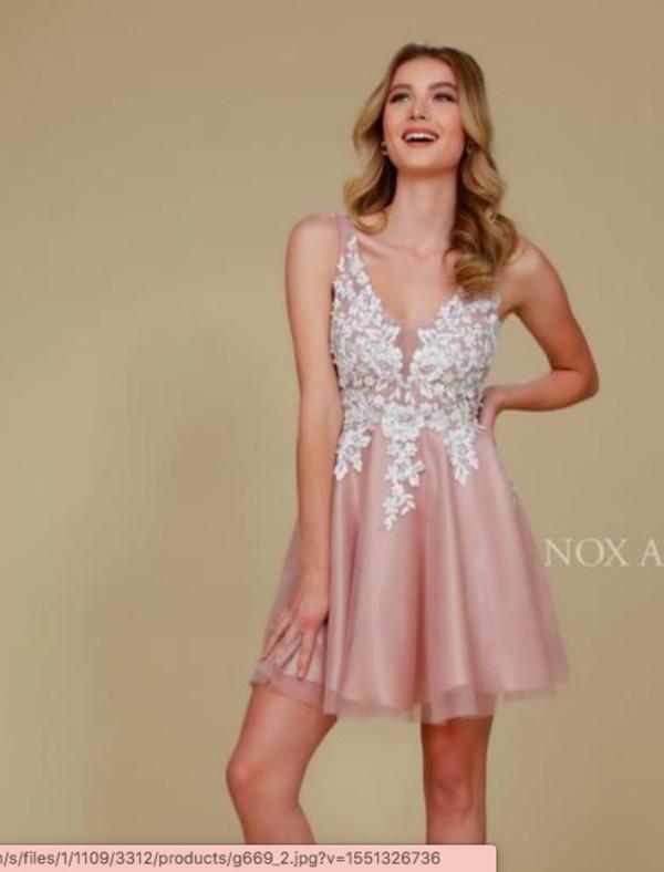 dress pink flowers cute a-line prom homecoming graduation dress graduation rose gold