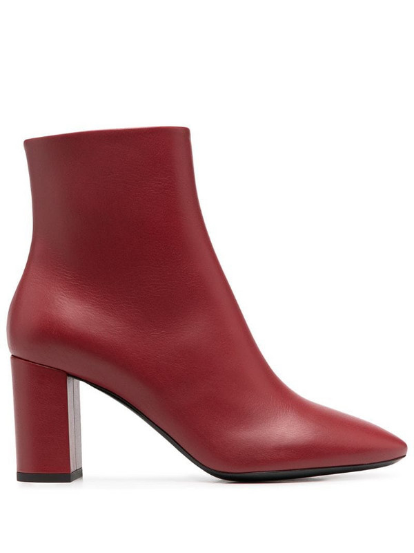 Saint Laurent mid-heel ankle boots in red