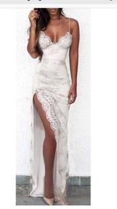 dress,lace satin spaghetti strap v neck dresss