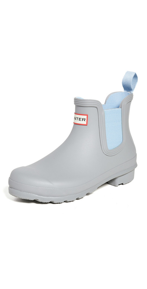 Hunter Boots Original Chelsea Boots in blue / grey