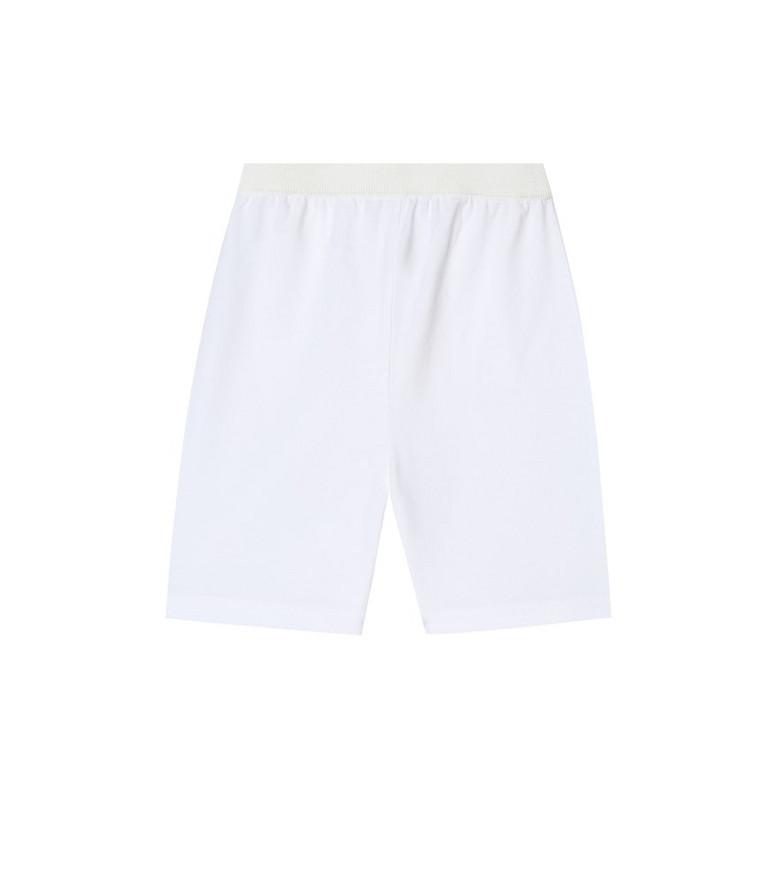 Loro Piana Kids Stretch-cotton Bermuda shorts in white
