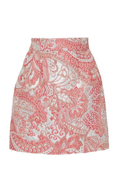 Dolce & Gabbana Floral Brocade Mini Skirt