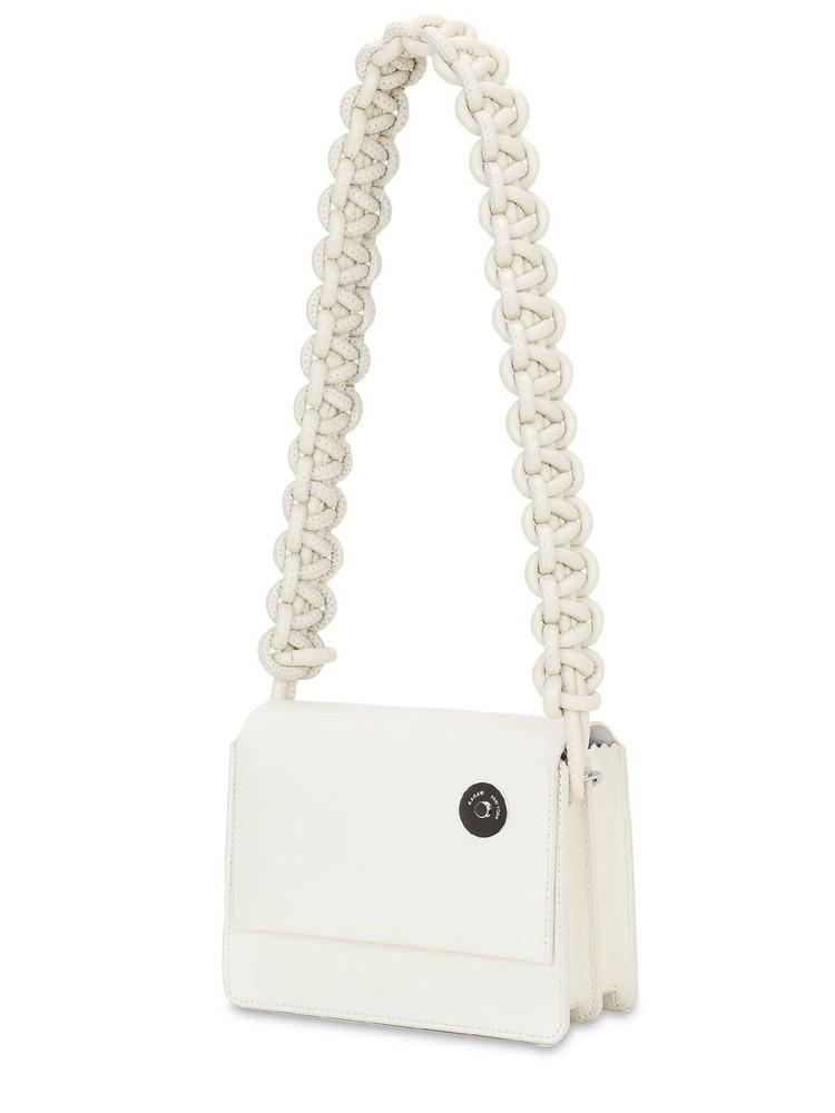 KARA Cobra Baby Pinch Shoulder Bag in white