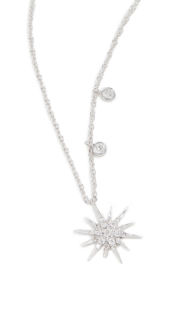 Meira T Starburst Necklace in gold / white