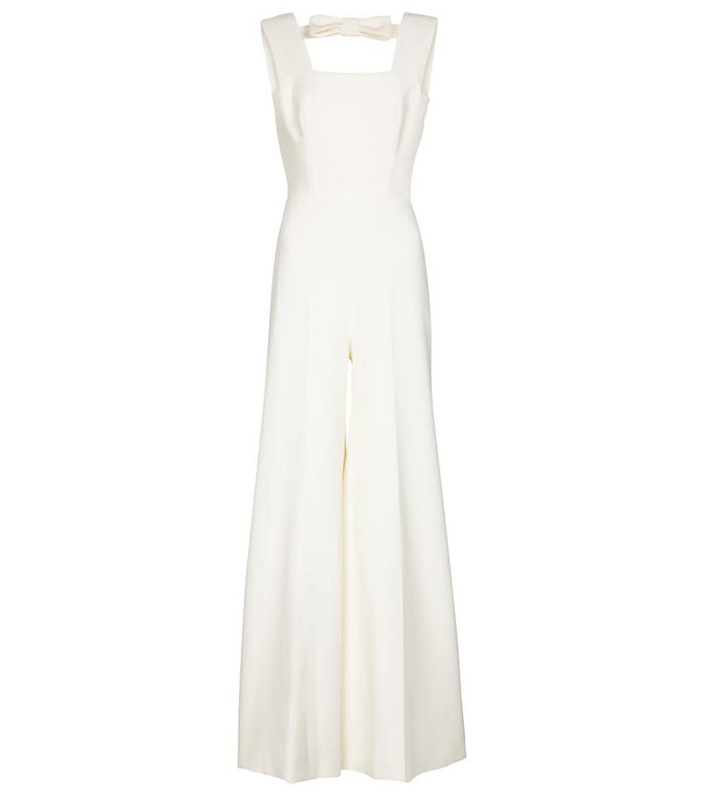 Emilia Wickstead Rosabella wide-leg crêpe jumpsuit in white