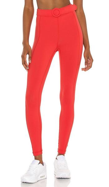 GIGI C sport Monroe Legging in Red in coral