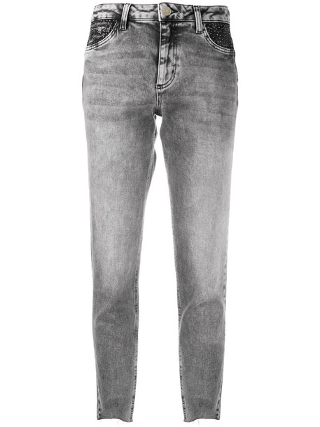 LIU JO low rise straight jeans in grey
