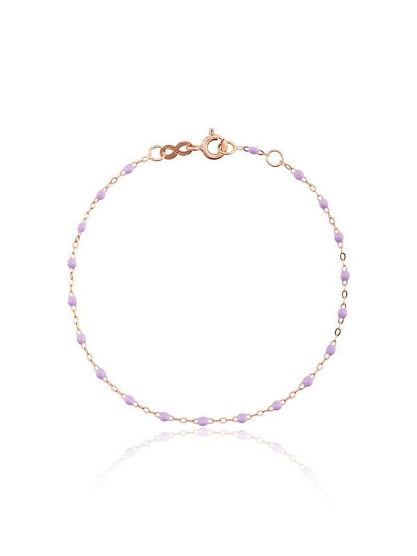 Gigi Clozeau 18kt rose gold Classic Gigi lilac beaded bracelet in pink