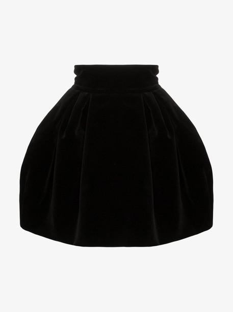 Alexandre Vauthier Pouf shape velvet mini skirt in black