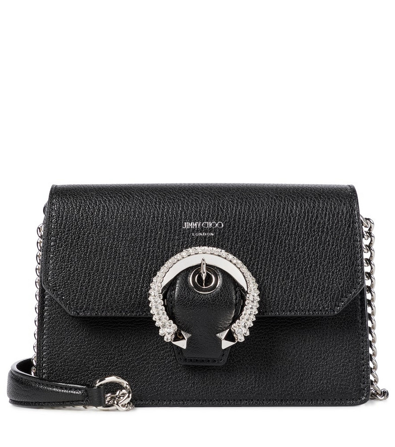 Jimmy Choo Madeline Small leather crossbody bag in black