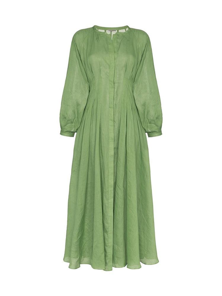 Three Graces Valeraine button-down maxi dress in green