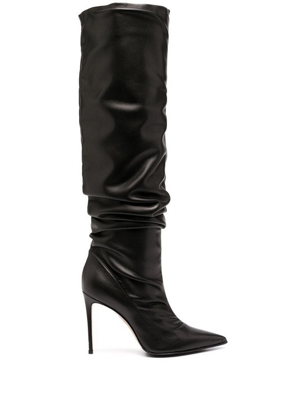 Le Silla pointed ruched boots in black