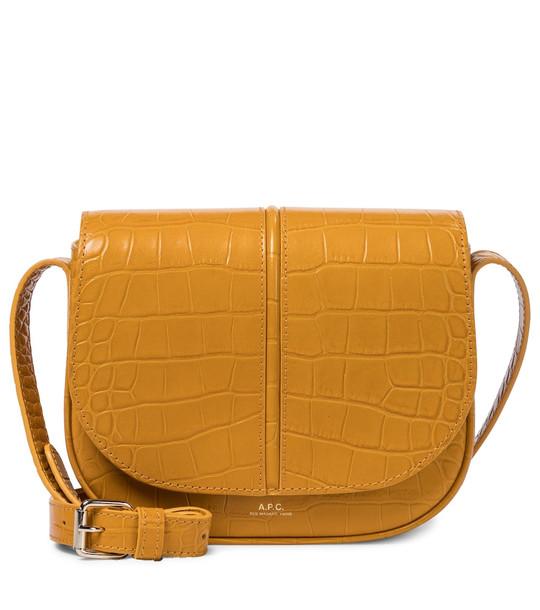 A.P.C. Betty croc-effect leather crossbody bag in blue