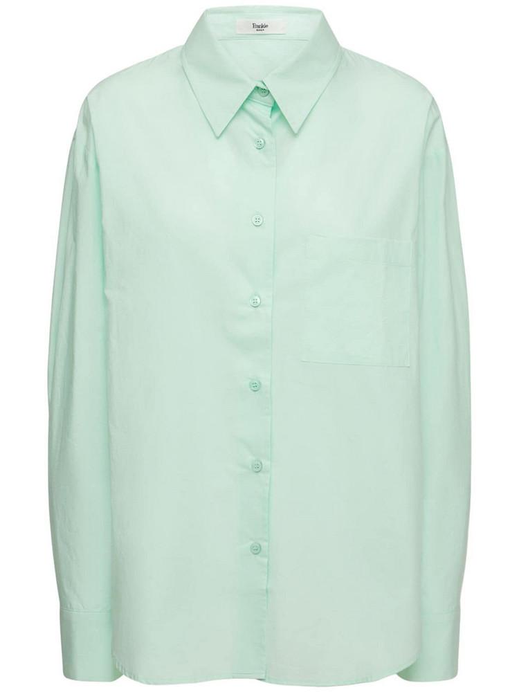 THE FRANKIE SHOP Lui Organic Cotton Poplin Shirt in mint