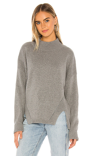 Bobi BLACK Cozy Cotton Sweater in Gray