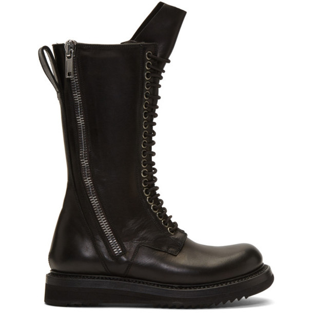 Rick Owens Black Army Creeper 2 Zip Boots