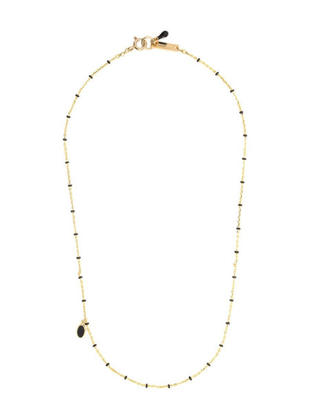 Isabel Marant medal beaded chain necklace in gold