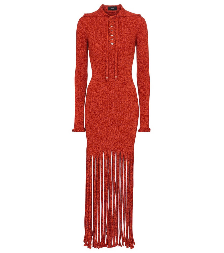 Alanui Desert Is My Tennis Court midi dress in red