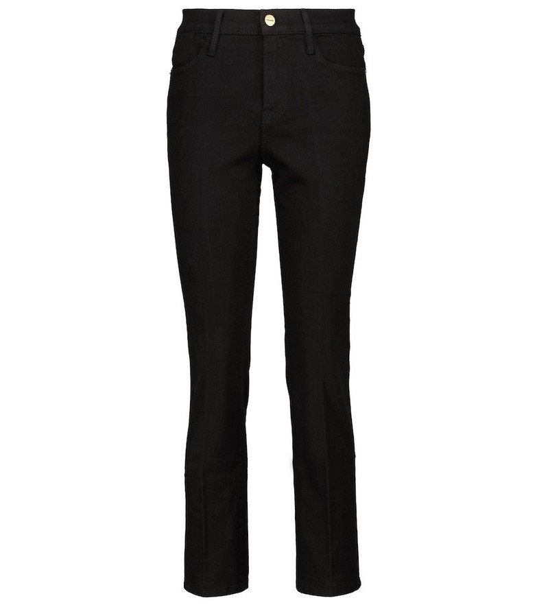 Frame Le High Straight jeans in black
