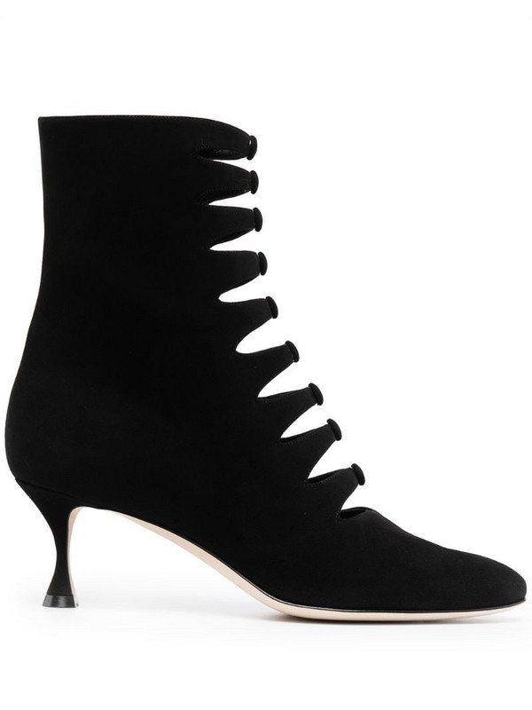 Manolo Blahnik button-detailing ankle boots in black