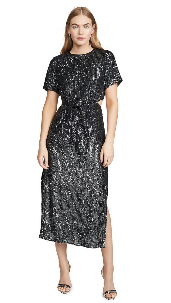 C/Meo Collective Lustre Midi Dress in black