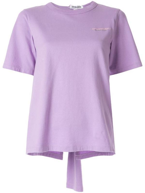 Ground Zero open back T-shirt in purple