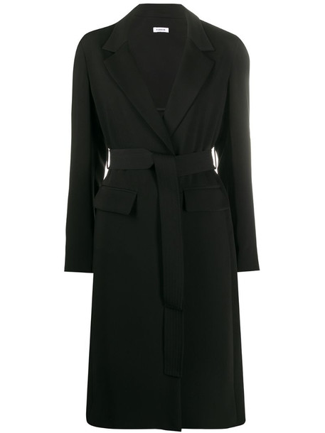 P.A.R.O.S.H. belted mid-length coat in black