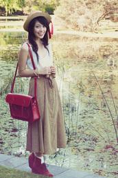 kani,brogue shoes,red bag,satchel bag,bag