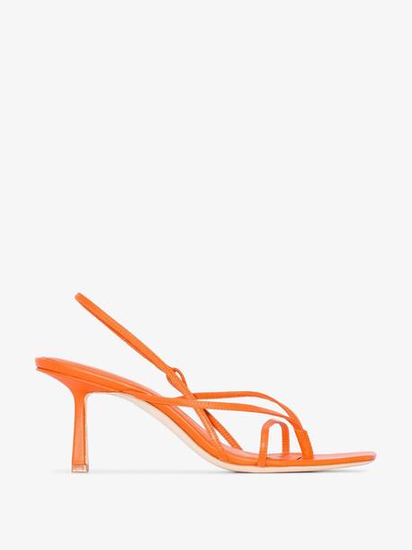 Studio Amelia orange 2.4 leather sandals
