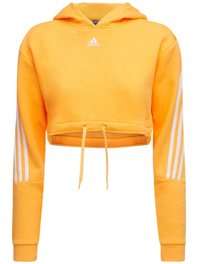 ADIDAS PERFORMANCE Cropped Sweatshirt Hoodie in orange
