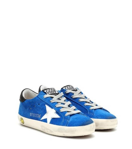 Golden Goose Deluxe Brand Kids Superstar suede sneakers in blue