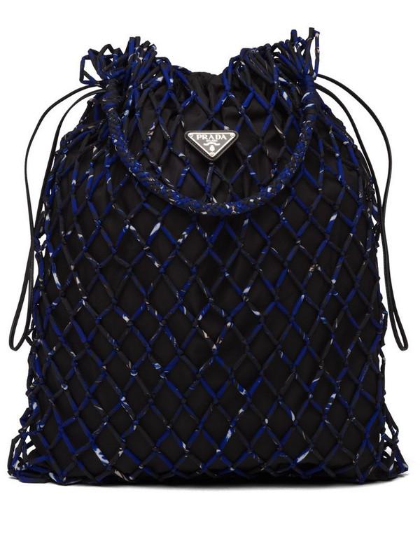 Prada mesh shoulder bag in black